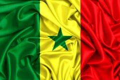развевая флаг 3d Senega Стоковое Изображение