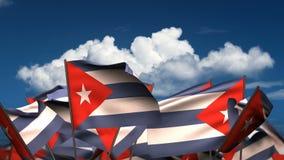 Развевая флаги кубинца видеоматериал