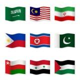 Развевая флаги различных стран 5 Стоковое Изображение RF
