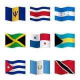 Развевая флаги различных стран 9 Стоковая Фотография RF