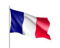 Развевая флаг положения Франции Стоковые Фотографии RF