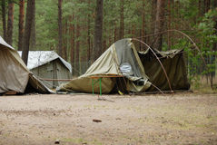 разведчик лагеря мальчика Стоковое фото RF