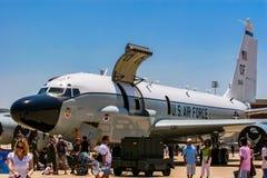 Разведывательный самолет соединения заклепки Боинга RC-135 Стоковые Фото