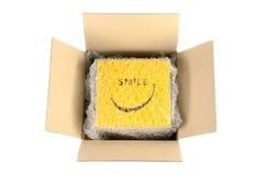 Разверните картонную коробку Стоковое Фото