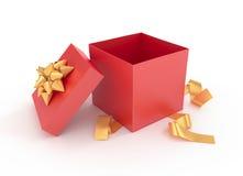 Развернутая подарочная коробка Стоковые Изображения RF