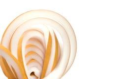 Развернутый крен толстых желтых резиновых окон изоляции Стоковое Изображение