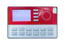 Развертка карточки на контроле допуска Стоковое фото RF