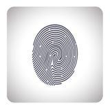 Развертка отпечатка пальцев Стоковое Изображение