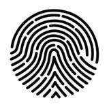 Развертка отпечатка пальцев Стоковое фото RF
