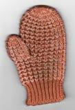 Развертка Mitten зимы Knit красного и белого ребенка Стоковое фото RF