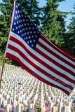 Развертыванный флаг Стоковая Фотография