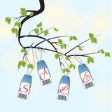 Разветвите с зелеными листьями - продажей Бесплатная Иллюстрация