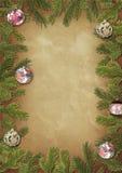 разветвляет вал рамок рождества Стоковые Фотографии RF
