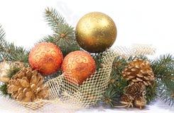 разветвляет ель украшений рождества Стоковые Фото