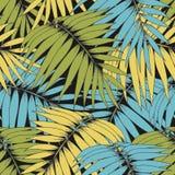 разветвляет тропическо Картина вектора безшовная для дизайна Стоковое Фото