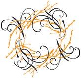 разветвляет флористический орнамент Стоковая Фотография RF