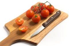 разветвляют томаты вишни Стоковые Изображения