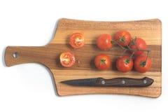 разветвляют томаты вишни Стоковая Фотография