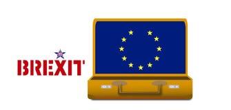 Разведение Brexit Великобритании от Европейского союза иллюстрация штока