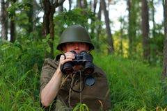 Разведчик в лесе Стоковые Фотографии RF