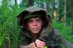 Разведчик в лесе Стоковое фото RF