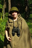 Разведчик в лесе Стоковая Фотография RF
