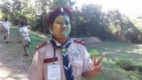 разведчик мальчика тайский Стоковые Фотографии RF