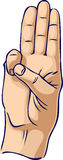 разведчик почетности руки жеста Стоковые Изображения RF