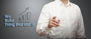 Развитие бизнеса Идти для успеха Стоковое фото RF