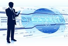 Развитие бизнеса иллюстрация штока