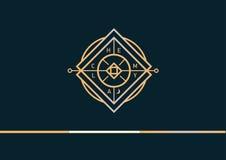 Развитие геометрического логотипа на алхимии Стоковое Изображение