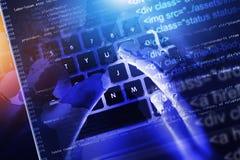 Развитие кода вебсайта Стоковая Фотография RF
