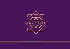 Развитие логотипа градиента на алхимии Стоковое Фото