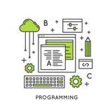 Развитие программирования и сети или процесс и оптимизирование SEO Стоковые Фотографии RF