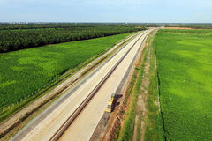 Развитие платной дороги Trans Суматры Стоковая Фотография RF