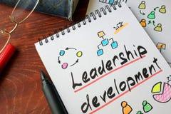 Развитие руководства написанное на бумаге Стоковое фото RF