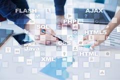 Развитие сети программировать Интернет и концепция технологии Стоковая Фотография