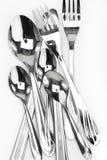 развлетвляют ложки ножей Стоковые Фотографии RF