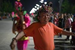 Развлечения Пекина гражданские в деревне Олимпиад стоковая фотография rf