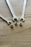 Разводные гаечные ключи и болты ванадия хрома Стоковые Изображения RF