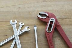Разводные гаечные ключи и screwer ванадия хрома Стоковое Фото