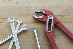 Разводные гаечные ключи и screwer ванадия хрома Стоковые Фото
