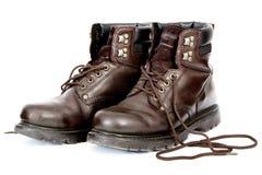 Развязанные ботинки работы Стоковые Фото