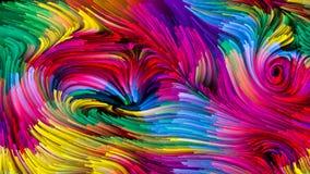 Развёртка жидкостного цвета Стоковое Фото