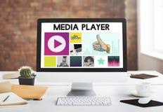 Развлечения медиа-проигрывателя тональнозвуковые течь концепция Стоковые Фото