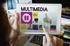 Развлечения медиа-проигрывателя тональнозвуковые течь концепция Стоковое фото RF