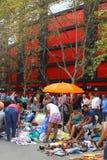 Развлечения на блошинном воскресенья, Валенсии, Испании Стоковое фото RF