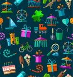 Развлечения ` s детей и отдых, безшовная предпосылка, цвет, синий Стоковое Фото
