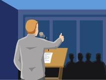 Разговаривать с аудиторией стоковые изображения