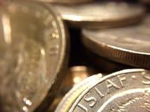 Разграбление серебряных монет Стоковое фото RF